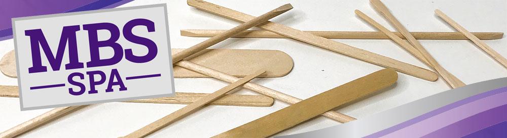 MBS Spa Waxing Applicator Sticks