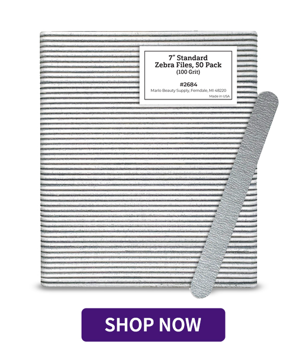 "7"" Standard Zebra Files, 50 Pack"