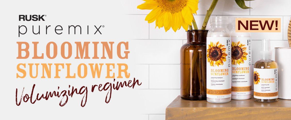 Rusk Blooming Sunflower hair care