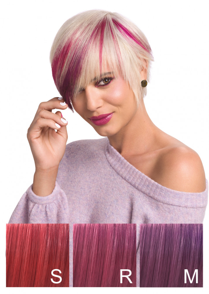 Wella Color Charm Paints Berry Shades model