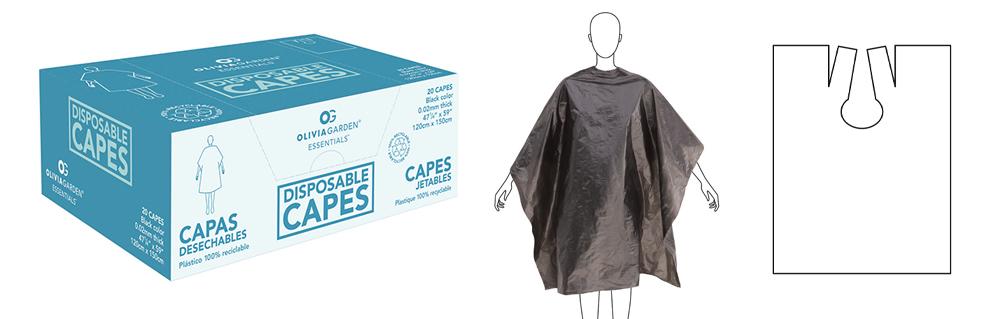 Olivia Garden Disposable Black Capes