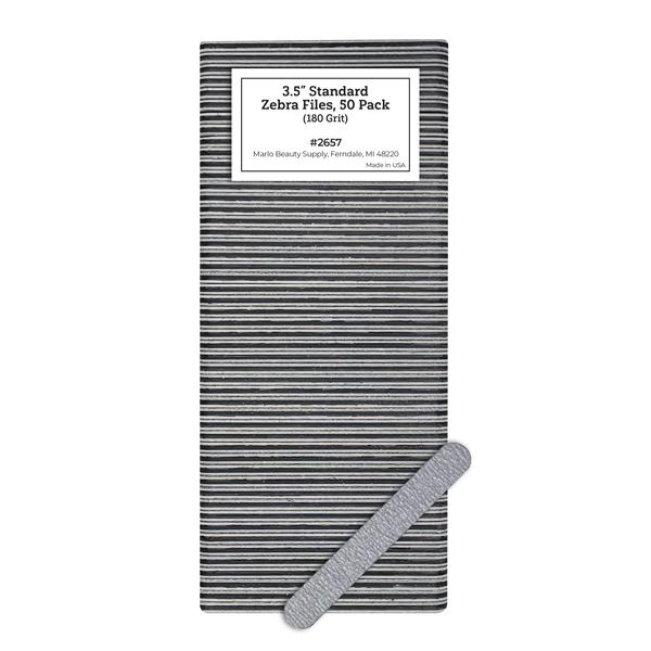 "3.5"" Standard Zebra Files, 50 Pack (180 Grit)"