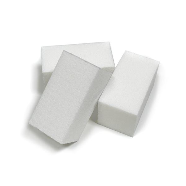 Half Size White Buffing Blocks, 24 Pack