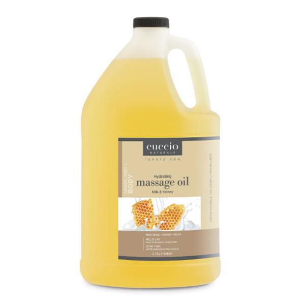 Cuccio Naturale Massage Oil, Gallon in Milk & Honey