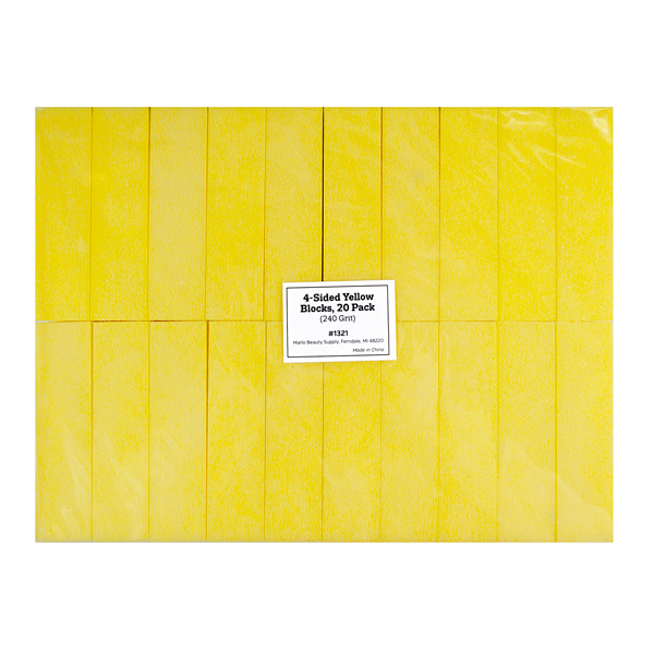 4-Sided Yellow Blocks, 20 Pack