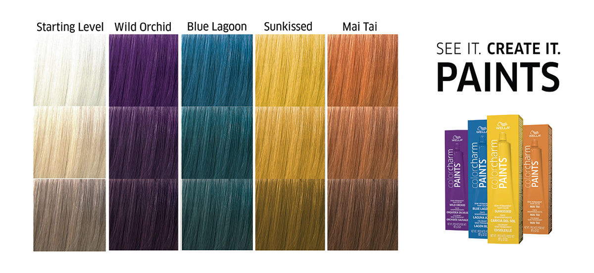 Wella Paints Tropical Collection Shade Chart