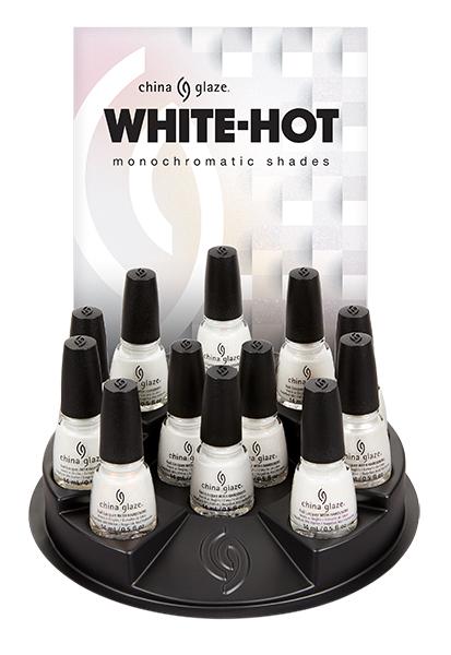 China Glaze White Hot Display