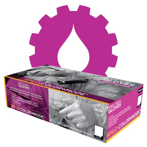 Spilo Color Mode Lightly Powdered Pro Vinyl Gloves