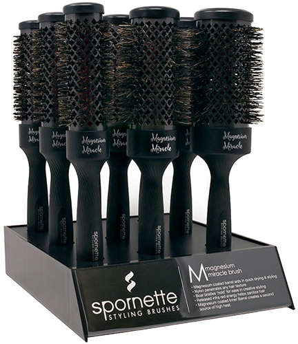 Spornette Magnesium Miracle Brush Display
