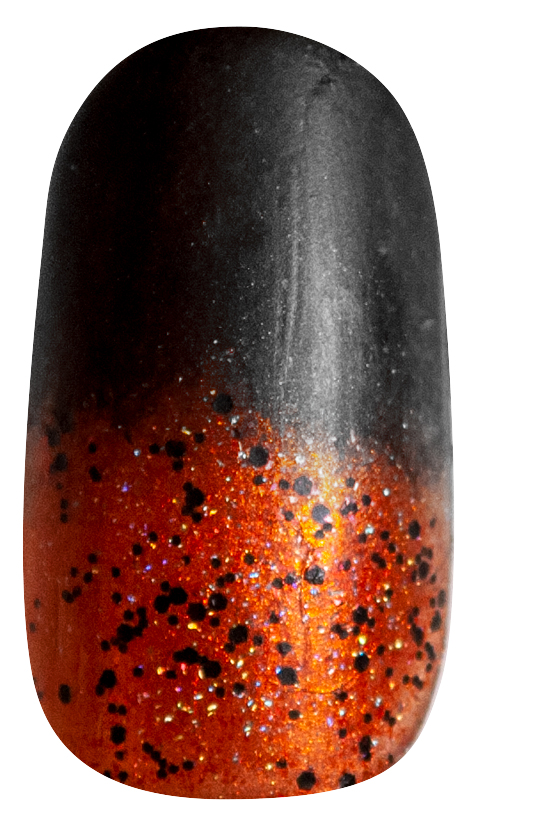 Halloween Ombre Accent Nail Step 4