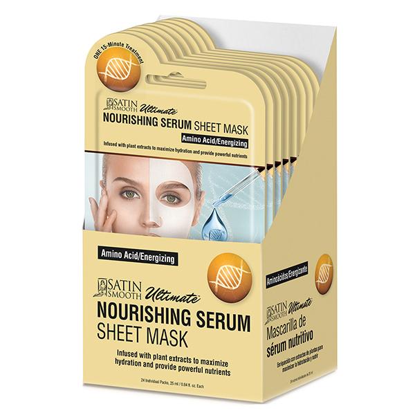 Satin Smooth Nourishing Serum Sheet Mask, 24 Piece Gift Box