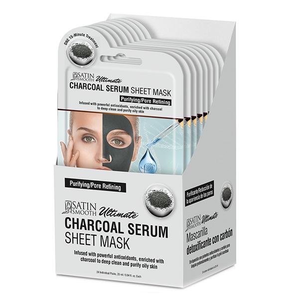 Satin Smooth Charcoal Serum Sheet Mask