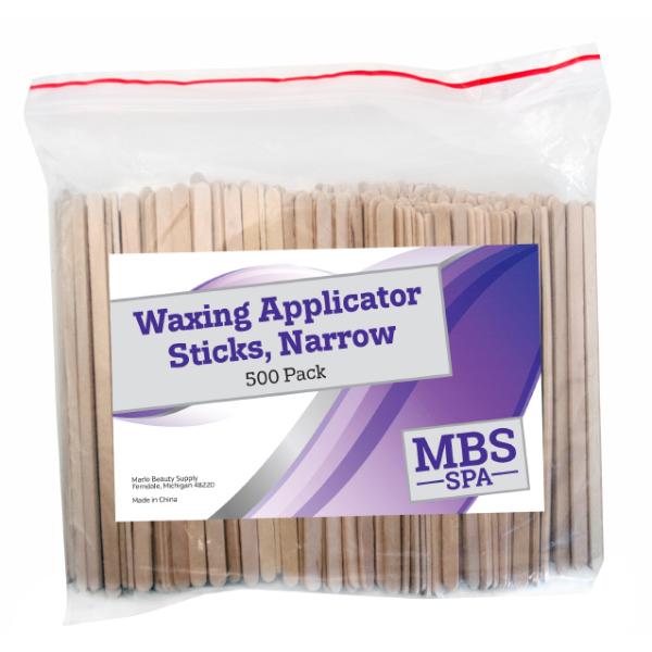 Narrow Waxing Applicator Sticks