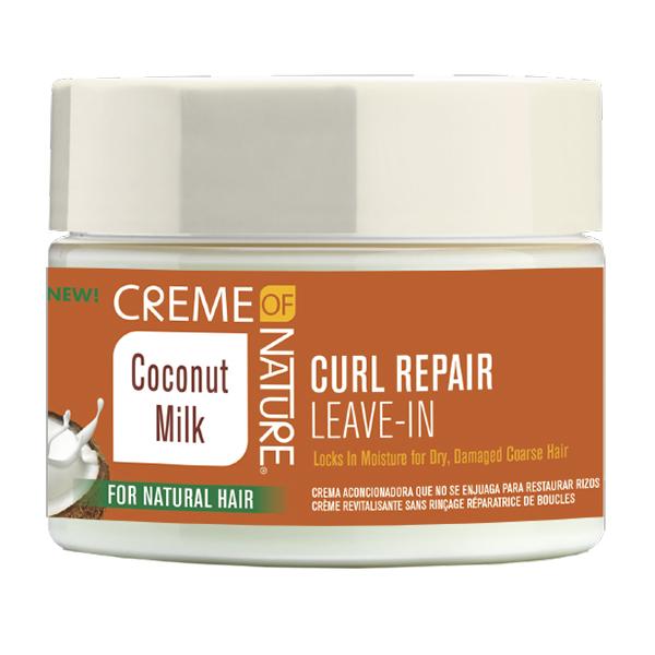 Creme of Nature Coconut Milk Curl Repair Leave-In Conditioning Cream,11.5 oz