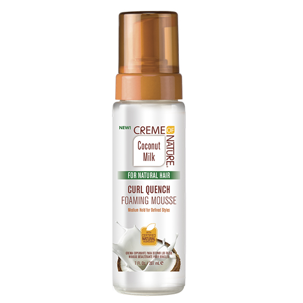 Creme of Nature Coconut Milk Curl Quench Foaming Mousse, 7 oz