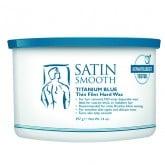 Satin Smooth Titanium Blue Thin Film Hard Wax, 14 oz