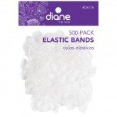 Diane Clear Elastic Bands, 500 Pack