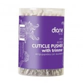 Diane Cuticle Pusher with Trimmer, 60 Pack