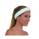 Canyon Rose Terrycloth Spa Elasticized Headband White