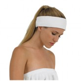 Canyon Rose Terrycloth Spa Headband White