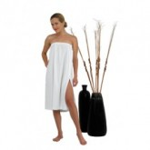 Canyon Rose Terrycloth Spa Wrap White