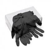 Disposable Powder Free Black Vinyl Gloves, 100 Pack