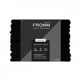 Fromm Studio Experience Softees Microfiber Black Towels, 12 Pack