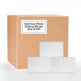 Half Size White Buffing Blocks, 500 Pack (150 Grit)
