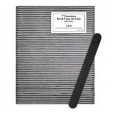 "7"" Premium Black Files, 50 Pack (180 Grit)"
