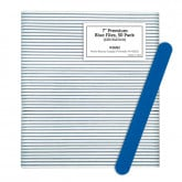 "7"" Premium Blue Files, 50 Pack (120/240 Grit)"