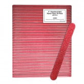 "7""  Standard Red Mylar Files, 50 Pack (80 Grit)"