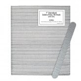 "7"" Standard Zebra Files, 50 Pack"