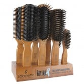 Spornette Bolero Wood Hair Brush, 8 Piece Display