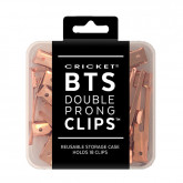 Cricket BTS Double Prong Clips All Rosie (Rose Gold), 18 Pack