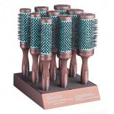 Spornette Ion Fusion Ceramic Aerated Round Brush, 9 Piece Display