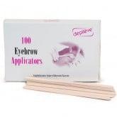 Depileve Eyebrow Applicators, 100 Pack