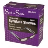 Soft 'N Style Disposable Eyeglass Sleeves, 200 Count