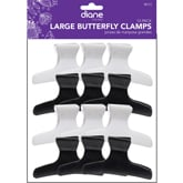 """Diane Large Butterfly Clamps 3 1/4"""", 12 Pack"""