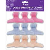 "Diane Large Frosty Butterfly Clamps 3 1/4"", 9 Pack"