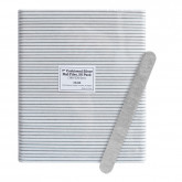 "7"" Cushioned Silver Nail Files, 50 Pack (180/320 Grit)"