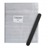 "7"" Cushioned Black Nail Files, 50 Pack (180/320 Grit)"