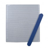 "Soft Touch 7"" Cushioned Blue Nail Files 220/320, 50 Pack"