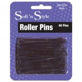 "Soft 'N Style 3"" Roller Pins, 40 Pack"