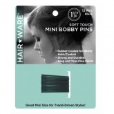 "Hair Ware 1.25"" Soft Touch Mini Bobby Pins, 12 Count"