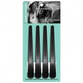Hair Ware Carbon Clips, 4 Pack (Black)