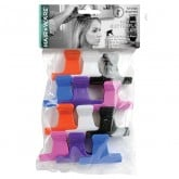 """Hair Ware Fixed Grip Butterfly Clamps, 2"""", 12 Pack"""