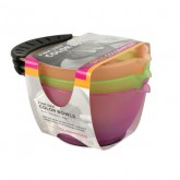 Spilo Color Mode Firm Grip Color Bowl, 3 Pack