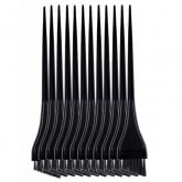 Spilo Color Mode Slanted Precision Color Brushes, 12 Pack (Black)