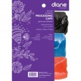 Diane Processing Black/Blue/Red Caps, 30 Pack