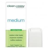 Clean & Easy Roller Heads Medium, 3 Pack